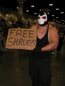 Comikaze 2013 - Bane shrugs