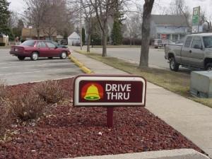 Taco Bell Drive Thru Sign
